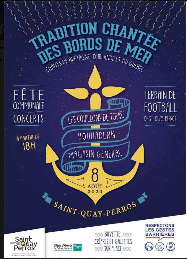 Concert de chants des bords de mer le samedi 8 août 2020 au terrain de foot à partir de 18H